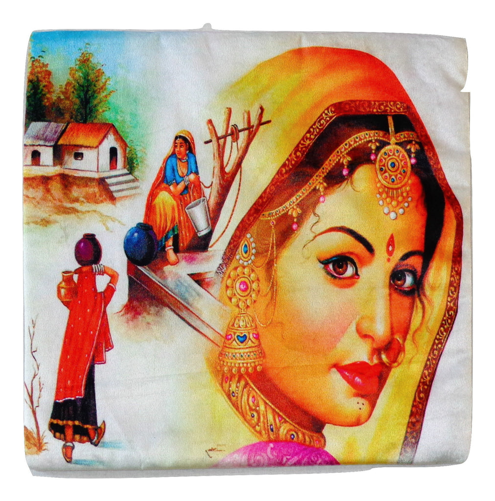 Gujarati Home Decor Cushion Cover