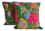 Kantha  Beaded Cushion Cover