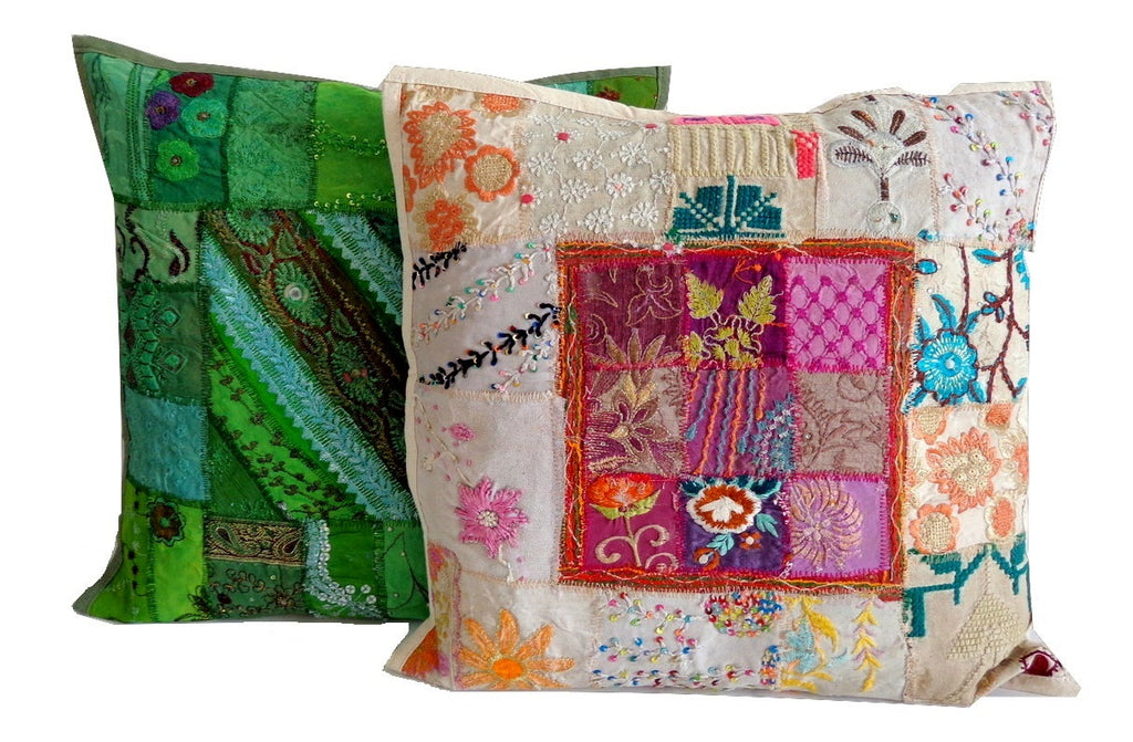 Exclusive Beaded Cushion Cover