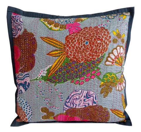 Embroidery Kantha Cushion Covers