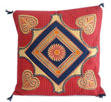 Printed Square Design Cushion Cover