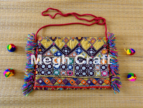 Indian mirror work wallet