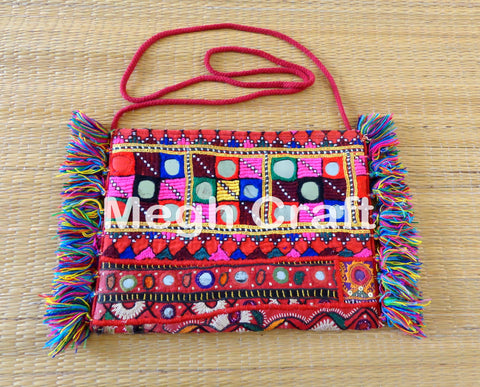 Embroidered Mirror Work Wallet