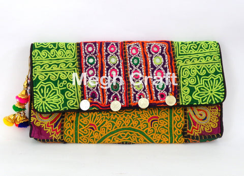INDIAN BANJARA HIPPIE CLUTCH