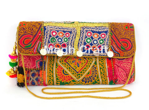 Gypsy Banjara Coin Clutch