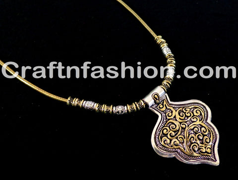 Indian Navratri Fashion wear Golden Silver  necklace