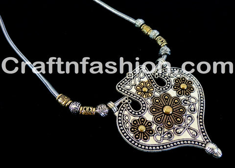 Antique Golden And Silver Plated Tribal set