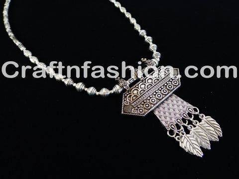 Traditional silver Plated Necklace