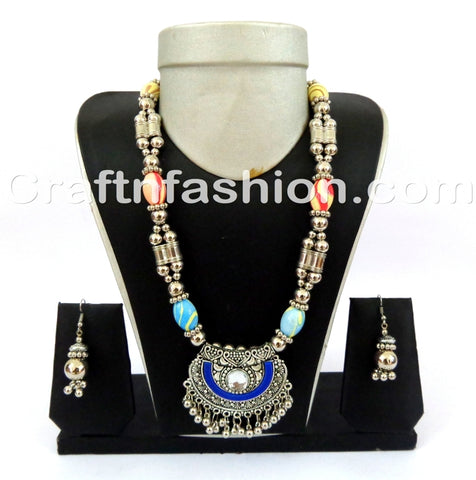 Navratri Wear Oxidized Necklace set