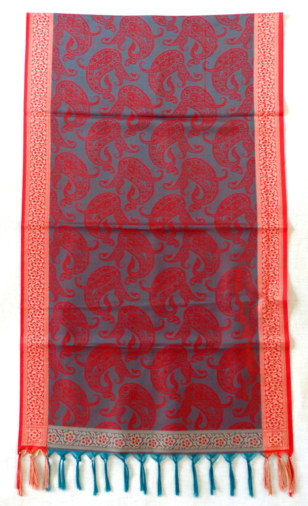 Indian Paisley Design Silk Stole
