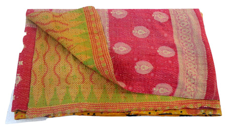 Exclusive Kantha Throw Quilt Gudari