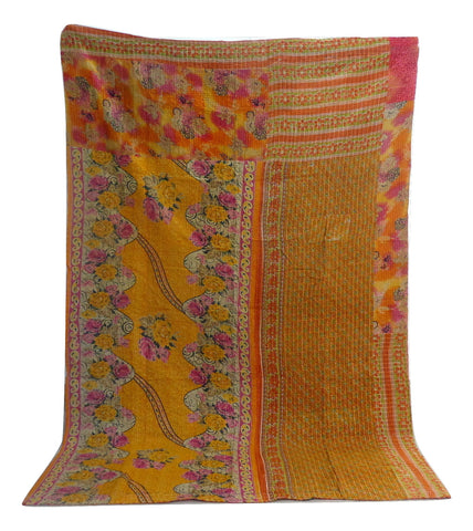 Boho Tribal Kantha Throw Quilt