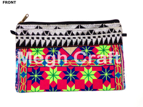 Wholesale Lot : Afghani Banjara Clutch Purses-Designer Tribal Clutch Purses - 5 Pieces
