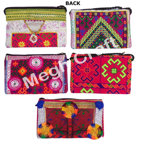 Wholesale Lot : Afghan Patchwork Handmade Clutch - Afghan Kuchi Tribal Clutch Purse -5 Pieces
