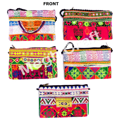Wholesale Lot : Vintage Afghan Kuchi Clutch Purse - Tribal Handmade Boho Antique Clutch Purse-5 Pieces