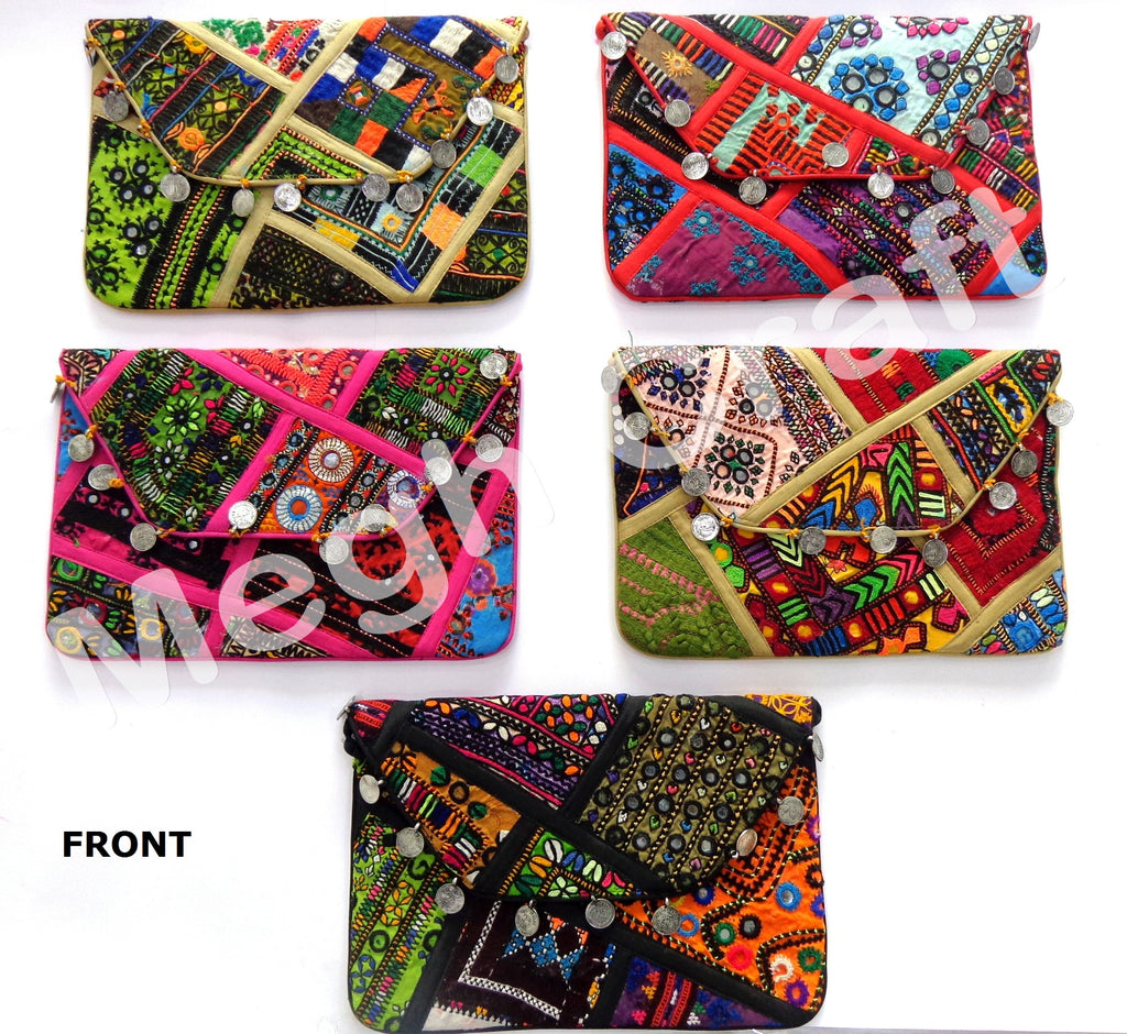 Wholesale Lot : - Vintage Patchwork Handmade New Style Coin Purse -Banjara Handmade tribal Coin Purse - 5 Pieces