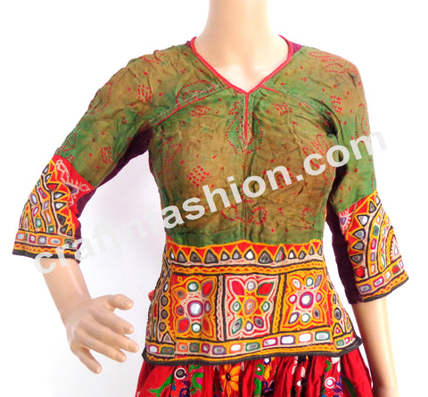 Vintage Gypsy Kutch Tradition Backless Blouse