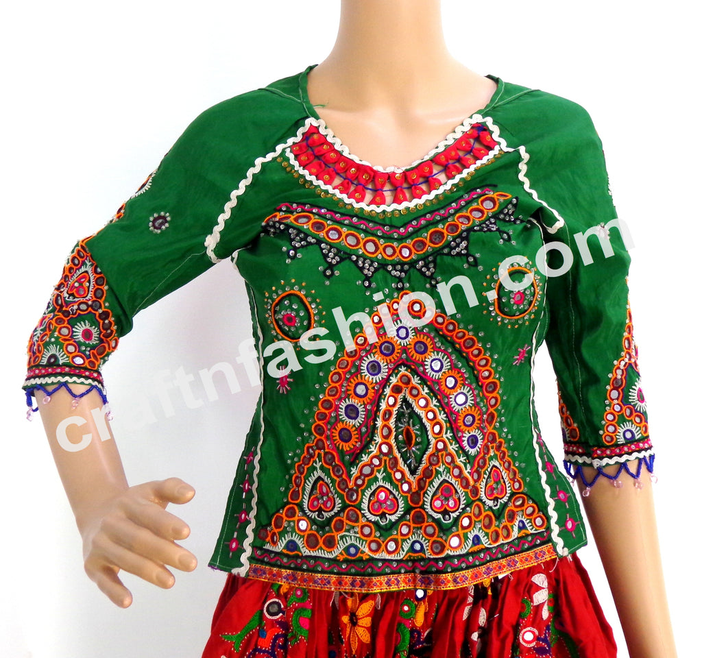 Handmade Rabari Embroidery Kutchi Backless Blouse