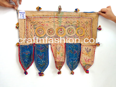Indian Mirror Work Boho Gypsy Wall Decor Toran