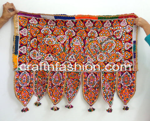 Cotton Hand Embroidered Vintage Kutch Toran