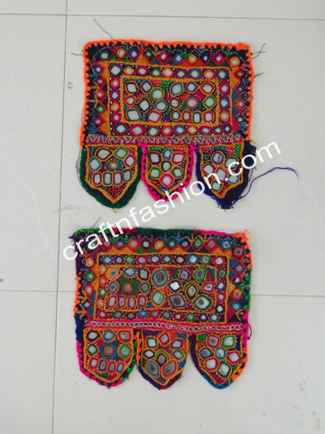 Tribal Gypsy Bohemian Mirror Work Toran - 2 Pieces