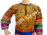 Afghani Mirror Work Embroidery Kuchi Tunic