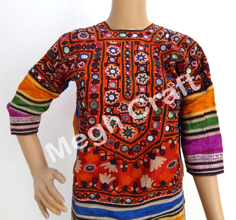 Kuchi Afghani Mirror Work Tunic