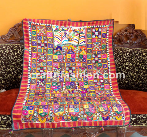 Gujarati Gamthi Hand Crafted Home Decor Tapestry