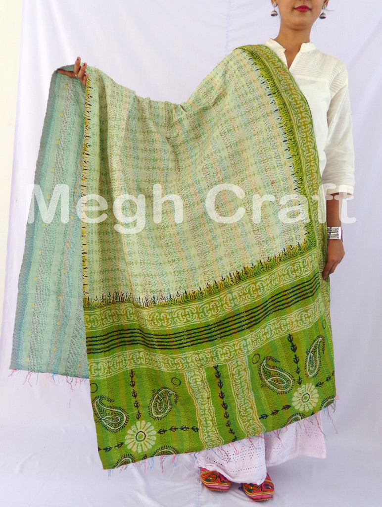 kantha Cotton Silk stole