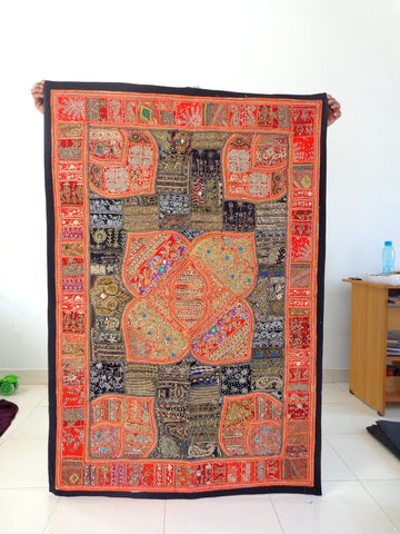 Indian Zardosi Work Tapestry