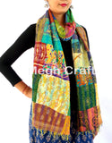 Colorful Patchwork Kantha Scraves