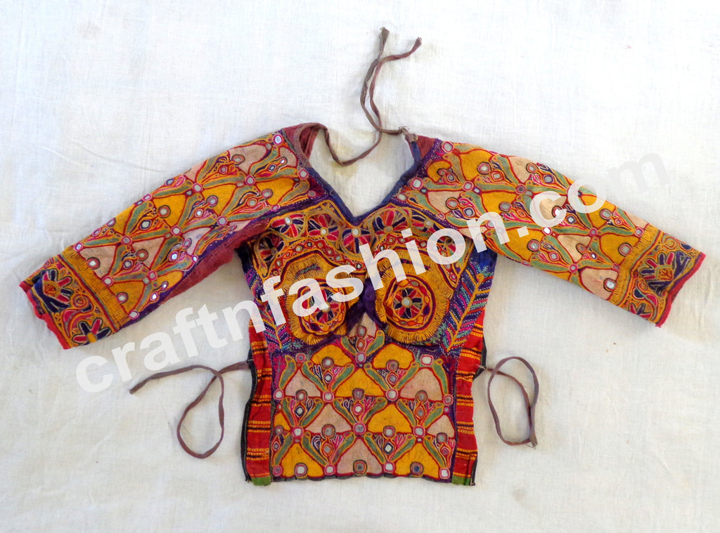 Gypsy Tribal Wear Heavy Embroidery Kutch Blouse