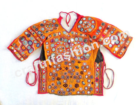 Indian Ethnic Vintage Mirror Rabari Work Blouse