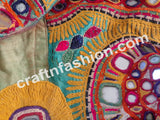 Hippie Bohemian Gypsy Multicolored Mirror Work Blouse