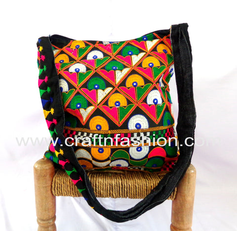 Rabari Embroidery Vintage Cotton Bag