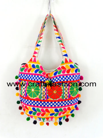 Multicolored Bohemian Vintage Cotton Shoulder Bag