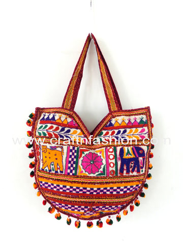 Elephant Embroidery Gamthi Shoulder Bag
