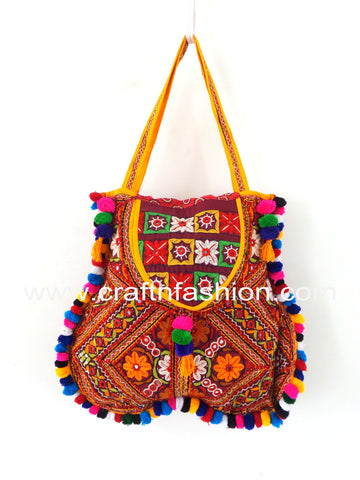 Cotton Handmade Gamthi Gujarati Bag