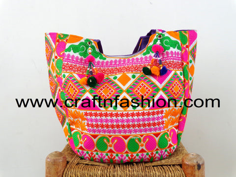 Kutch Embroidery Traditional Tote Bag
