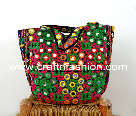 Mirror Work Multicolored Boho Banjara Bag