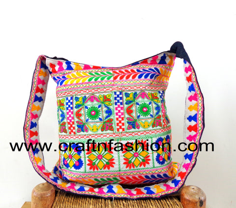 Hand Embroidered Vintage Traditional Banjara Bag
