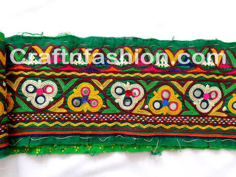 Designer Kutch Mirror work Border Lace