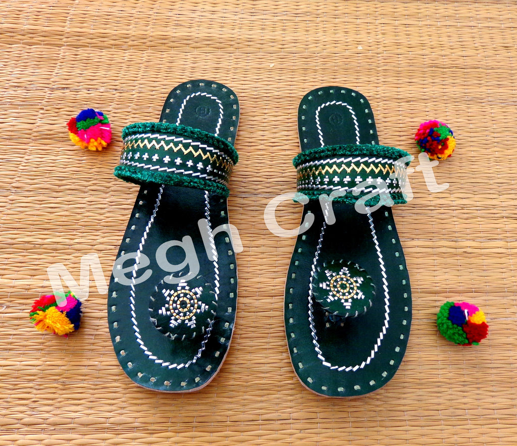 Kutch Work Leather chappal