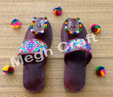 Indian  Kutchi Embroidered  Chappals