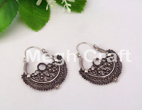 Traditional Silver Plated Earrings