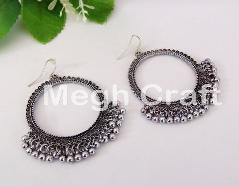 Antiqued Silver Plated Earrings