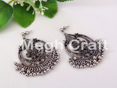 Designer Fusion Silver Earring