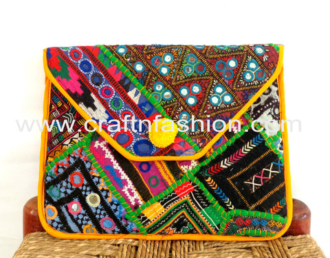 Rabari Embroidery Handmade Clutch Purse