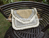 Party Wear Beaded Jute Clutch Purse
