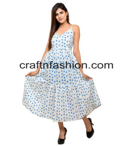 Exclusive Cotton Summer Wear Indo Western Dress